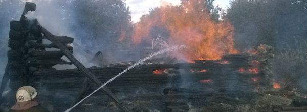 В д. Большие Мамыши огонь уничтожил жилой дом и надворные постройки
